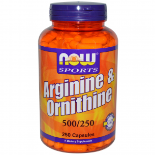 NOW FOODS  L- Arginina & Ornitine 500/250 mg  250 capsule