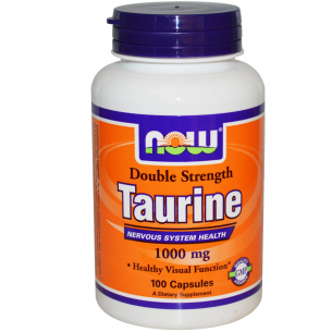 NOW FOODS - Taurine 1000mg - 100 cpr